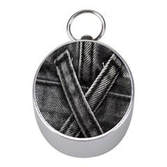 Backdrop Belt Black Casual Closeup Mini Silver Compasses