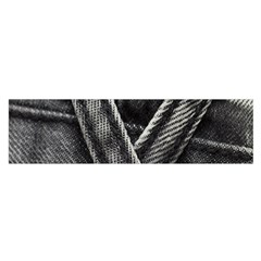 Backdrop Belt Black Casual Closeup Satin Scarf (Oblong)