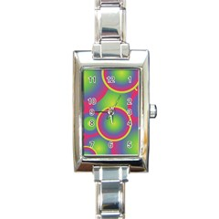 Background Colourful Circles Rectangle Italian Charm Watch
