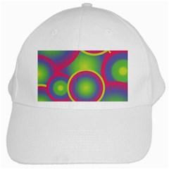 Background Colourful Circles White Cap