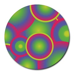 Background Colourful Circles Round Mousepads