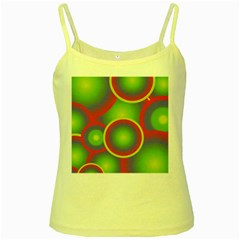 Background Colourful Circles Yellow Spaghetti Tank