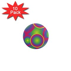 Background Colourful Circles 1  Mini Magnet (10 pack)