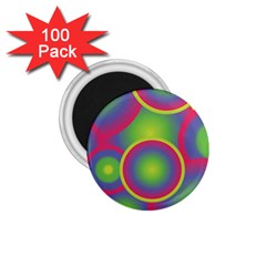 Background Colourful Circles 1.75  Magnets (100 pack)