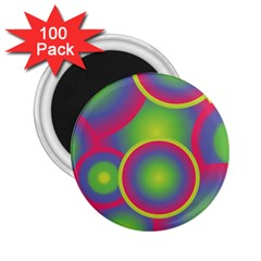 Background Colourful Circles 2.25  Magnets (100 pack)