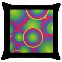 Background Colourful Circles Throw Pillow Case (Black)