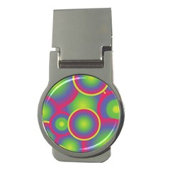 Background Colourful Circles Money Clips (Round)