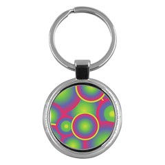 Background Colourful Circles Key Chains (Round)