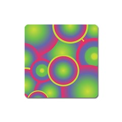 Background Colourful Circles Square Magnet