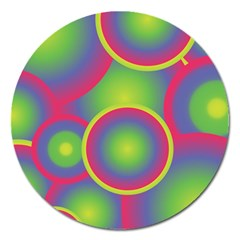 Background Colourful Circles Magnet 5  (Round)