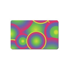 Background Colourful Circles Magnet (Name Card)