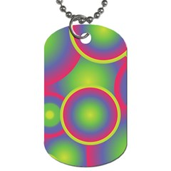 Background Colourful Circles Dog Tag (One Side)