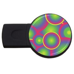 Background Colourful Circles USB Flash Drive Round (2 GB)