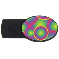 Background Colourful Circles USB Flash Drive Oval (1 GB)