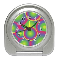Background Colourful Circles Travel Alarm Clocks