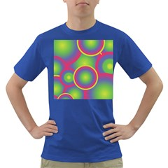 Background Colourful Circles Dark T-Shirt