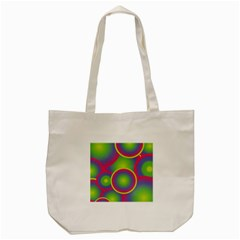 Background Colourful Circles Tote Bag (Cream)