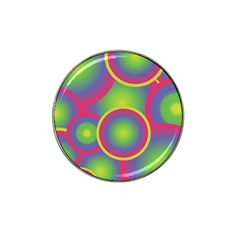 Background Colourful Circles Hat Clip Ball Marker (4 pack)
