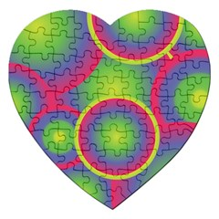 Background Colourful Circles Jigsaw Puzzle (Heart)