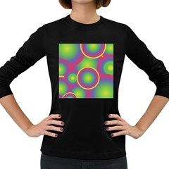 Background Colourful Circles Women s Long Sleeve Dark T-Shirts