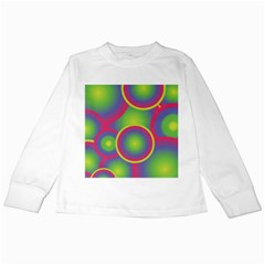 Background Colourful Circles Kids Long Sleeve T Shirts