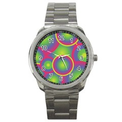 Background Colourful Circles Sport Metal Watch