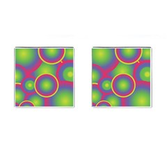 Background Colourful Circles Cufflinks (Square)