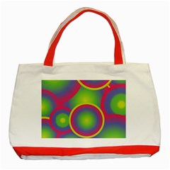 Background Colourful Circles Classic Tote Bag (Red)