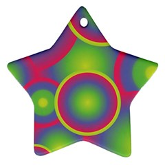 Background Colourful Circles Star Ornament (Two Sides)