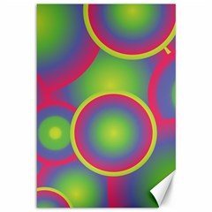 Background Colourful Circles Canvas 12  x 18