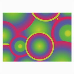 Background Colourful Circles Large Glasses Cloth (2-Side)