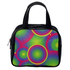 Background Colourful Circles Classic Handbags (One Side)