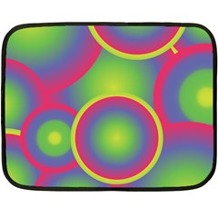 Background Colourful Circles Double Sided Fleece Blanket (Mini)