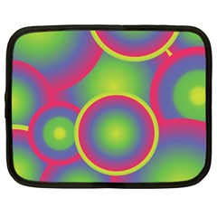 Background Colourful Circles Netbook Case (XXL)