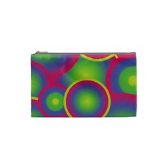 Background Colourful Circles Cosmetic Bag (Small)