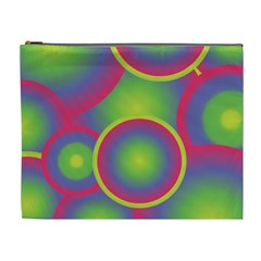 Background Colourful Circles Cosmetic Bag (XL)