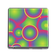Background Colourful Circles Memory Card Reader (Square)