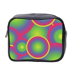Background Colourful Circles Mini Toiletries Bag 2-Side