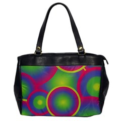 Background Colourful Circles Office Handbags