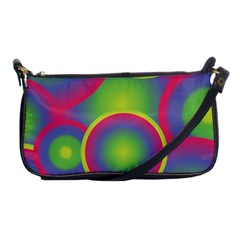Background Colourful Circles Shoulder Clutch Bags