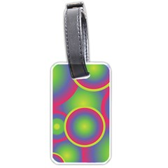 Background Colourful Circles Luggage Tags (Two Sides)