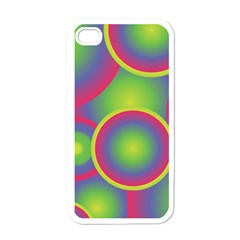 Background Colourful Circles Apple iPhone 4 Case (White)
