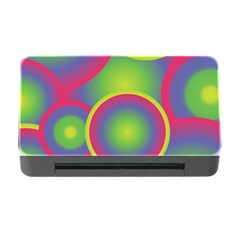 Background Colourful Circles Memory Card Reader with CF
