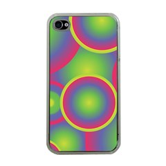 Background Colourful Circles Apple iPhone 4 Case (Clear)
