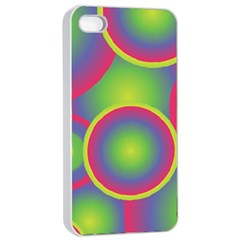 Background Colourful Circles Apple iPhone 4/4s Seamless Case (White)