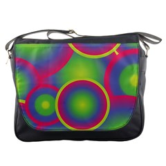 Background Colourful Circles Messenger Bags