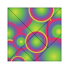 Background Colourful Circles Acrylic Tangram Puzzle (6  x 6 )