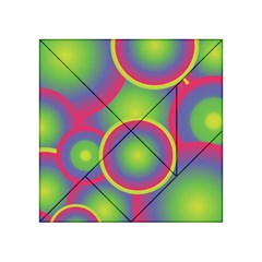 Background Colourful Circles Acrylic Tangram Puzzle (4  x 4 )