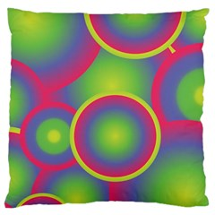Background Colourful Circles Large Cushion Case (One Side)