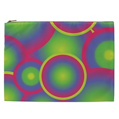 Background Colourful Circles Cosmetic Bag (xxl)